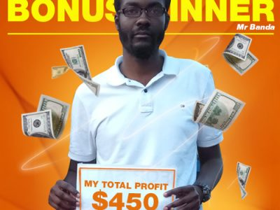 September Campaign 4th Bonus Winner: Mr. Moses Chapomboloka Banda