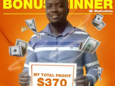 September Campaign 5th Bonus Winner: Mr. THAPELO MAKHAHLELA