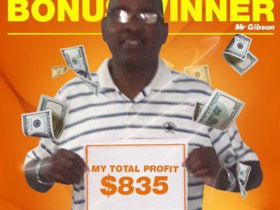 October Campaign 1st Bonus Winner: Mr. Hallam Walter Gibson