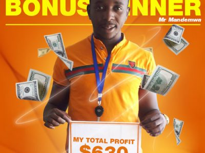 October Campaign 3rd Bonus Winner: Mr. Tapiwa T Mandemwa