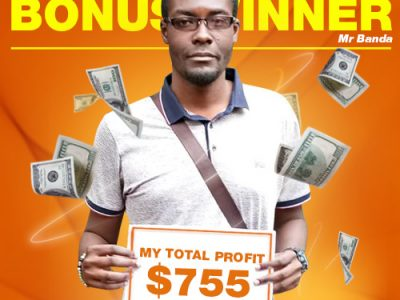 November Campaign 2nd Bonus Winner: Mr. Moses Chapomboloka Banda