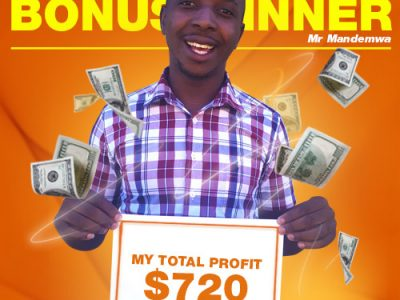 December Campaign 4th Bonus Winner: Mr. Tapiwa T Mandemwa.