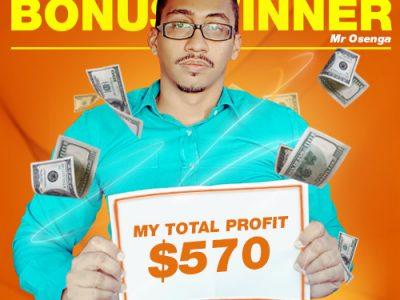 December Campaign 2nd Bonus Winner: Mr. Eldridge Osenga.