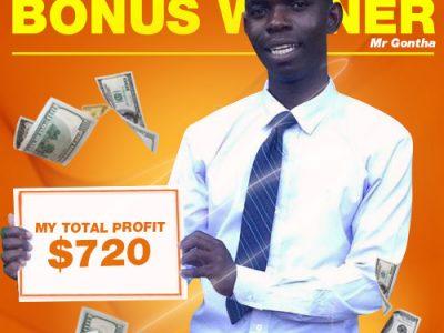 January Campaign 3rd Bonus Winner: Mr. Dennis Gontha.