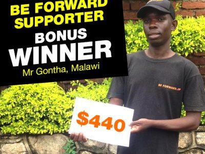February Campaign 5th Bonus Winner: Mr. Dennis Gontha.