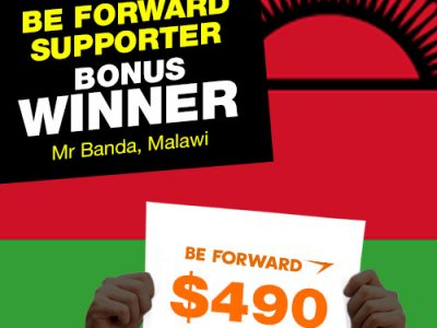 More Winners Bigger Reward 9th Bonus Winner: <br> Mr. Moses Chapomboloka Banda.
