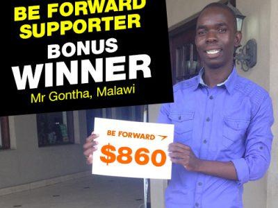 More Winners Bigger Reward 6th Bonus Winner: <br> Mr. Dennis Gontha.