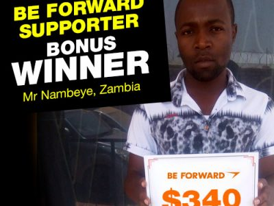 More Winners Bigger Reward 10th Bonus Winner: <br> Mr. Nambeye.
