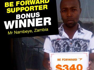 More Winners Bigger Reward 10th Bonus Winner: <br> Mr. Nambeye.