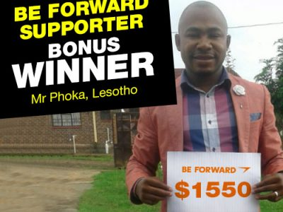 More Winners Bigger Reward 1st Bonus Winner: <br> Phoka Clearing & Forwarding Agency.