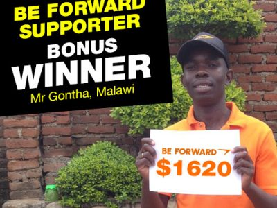 July Campaign 1st Bonus Winner: Mr. Dennis Gontha