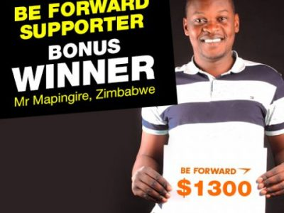 August Campaign 1st Bonus Winner: <br />Mr.Tapiwa Mapingire
