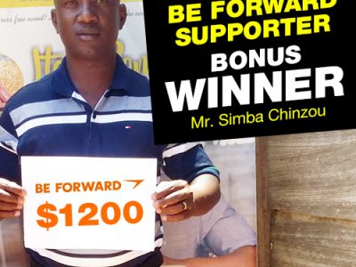 September Campaign 3rd Bonus Winner: Mr.Simba Chinzou