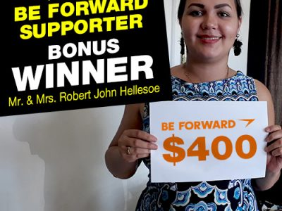 September Campaign 2nd Bonus Winner:<br /> Mr.and Mrs.Hellesoe