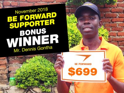 <b>November Campaign 2nd Bonus Winner:<br /> Mr.Dennis Gontha</b>