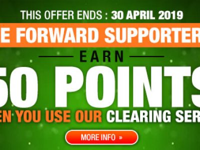 <b>50 Pontos ao usar BE FORWARD Tanzania &#8211; Clearing Service</b>