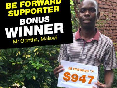 <b>February Campaign 1st Bonus Winner:<br />  Dennis Gontha</b>