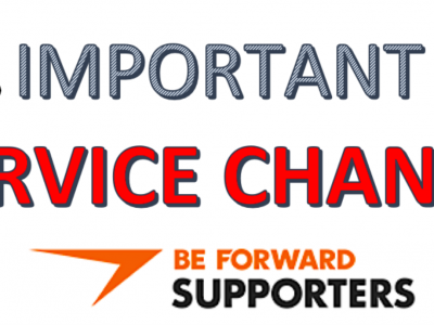 [IMPORTANT] SERVICE CHANGES