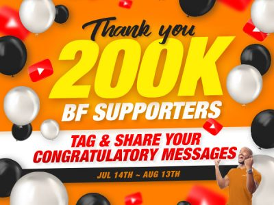 THANK YOU 200K BFS EVENT (Jul 14th ~ Aug 13th 2021)